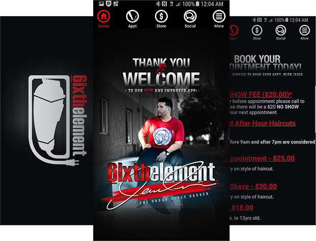 App For Barbers - 6ixthelement Barbershop