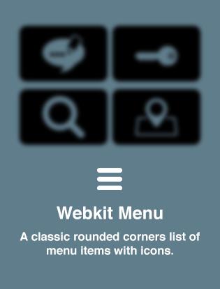 Webkit Menu